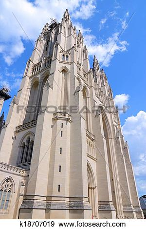 Stock Photograph of Washington National Cathedral k18707019.