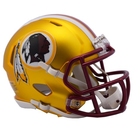 Washington Redskins Blaze Alternate Speed Mini Helmet.
