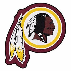 Details about Washington Redskins Mascot Decorative Logo Cut Area Rug Floor  Mat.