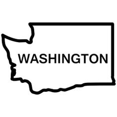 Washington state outline clipart.