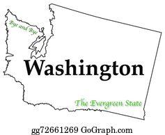 Washington State Clip Art.