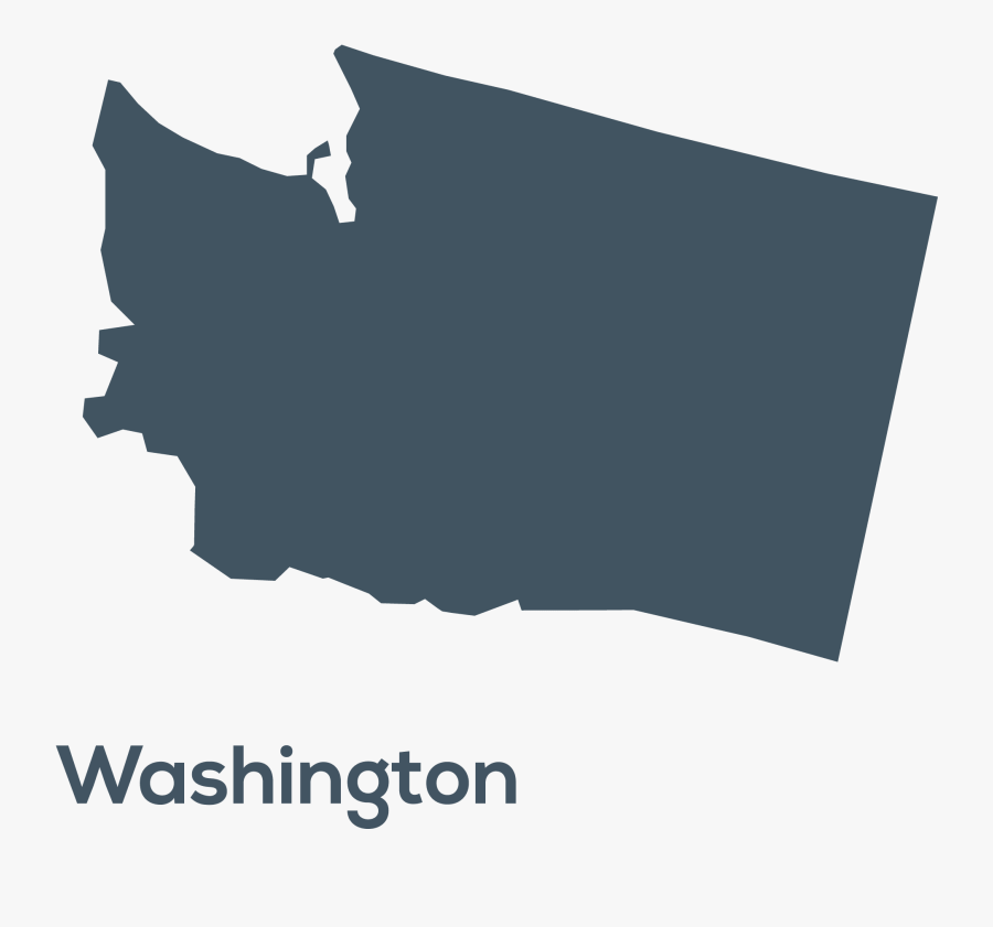 State Of Washington Map Black Png , Free Transparent Clipart.