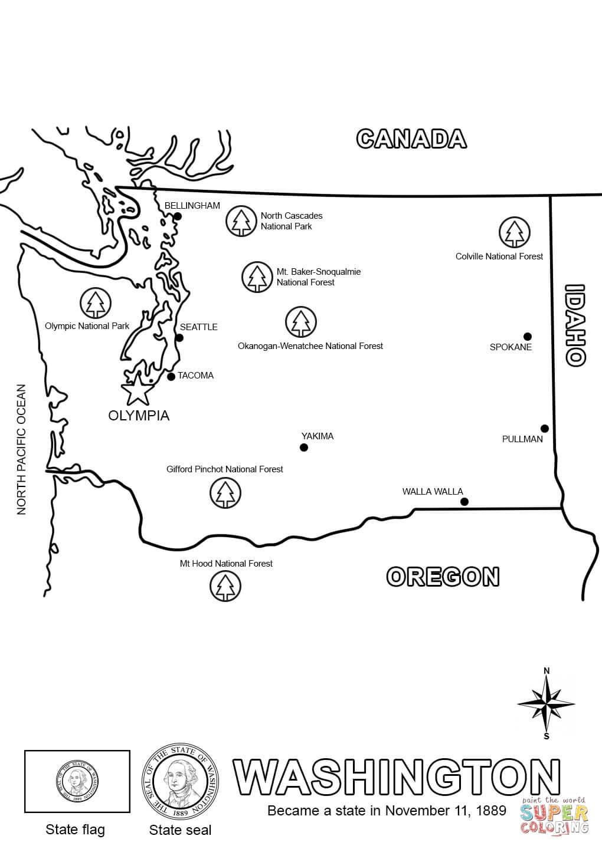 Free Washington State Coloring Page, Download Free Clip Art.