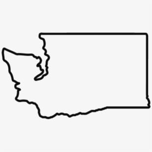 Washington State Outline Clipart , Transparent Cartoon, Free.