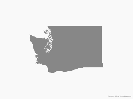 Vector Map of Washington.