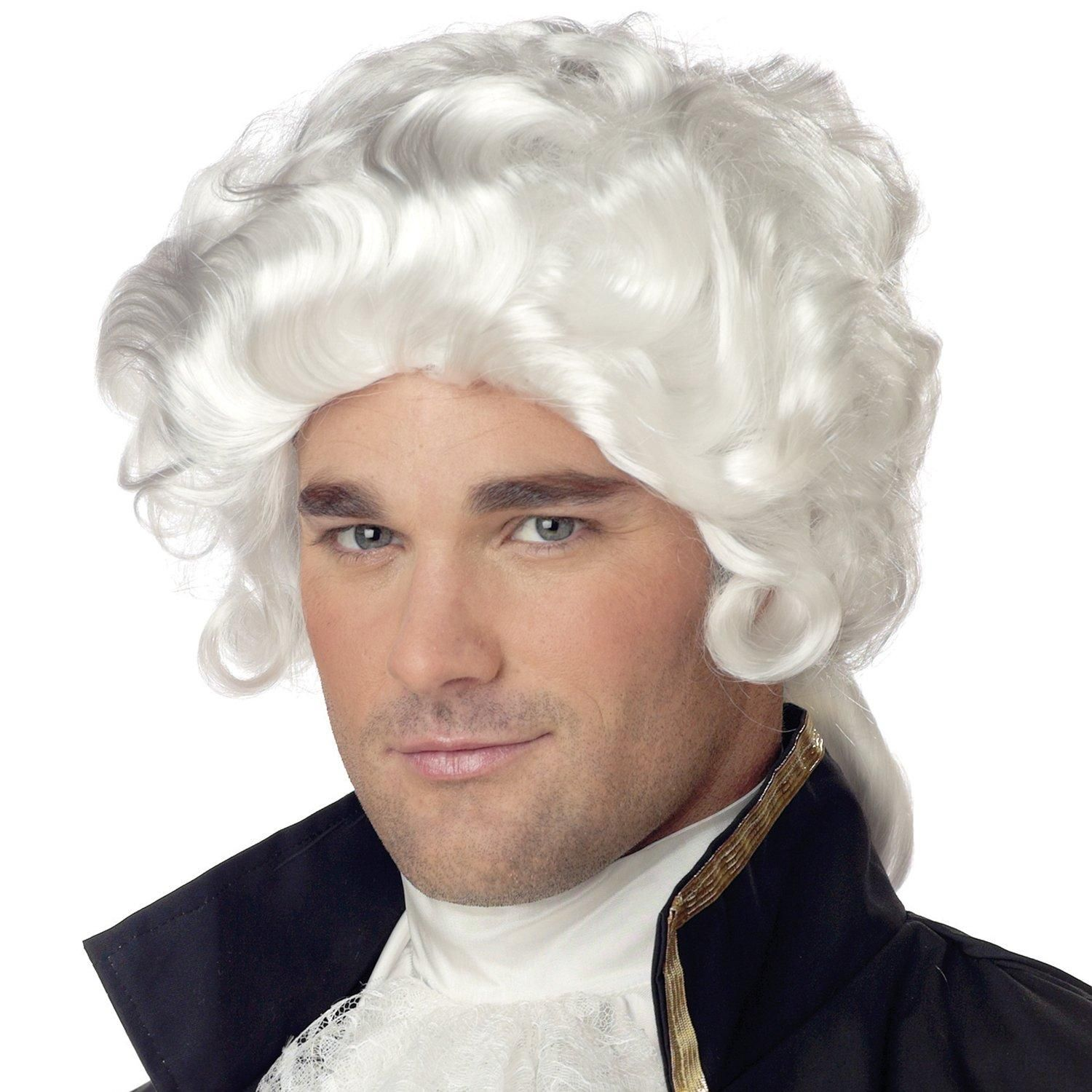 Colonial Man White Wig.