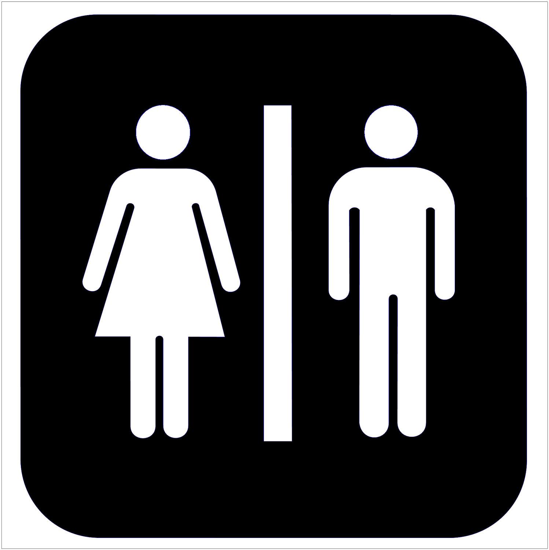 Toilet sign clip art.