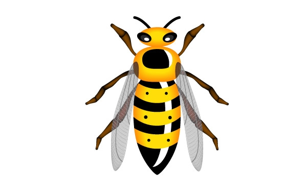 Queen Wasp Clipart.
