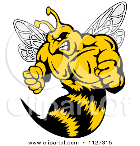 Wasp bee clipart #15