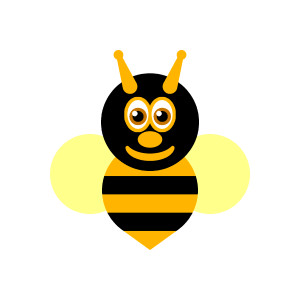 Free bee clipart graphics. Queen bee, wasp, hornet, bubmle bee.