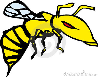 Cartoon Flying Wasp Clip Art Royalty Free Stock Images.