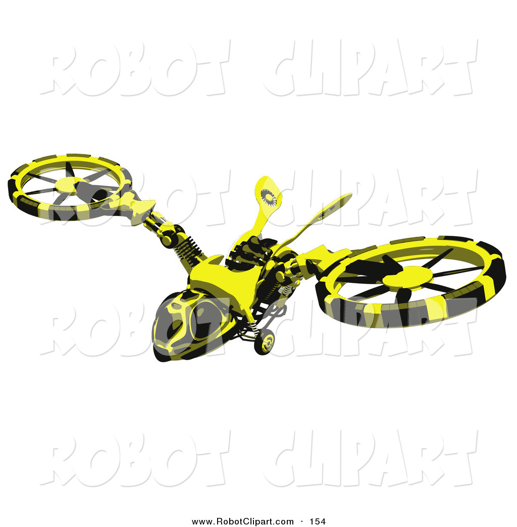 3d Clipart of a Wasp.