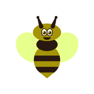 Free bee clipart graphics. Queen bee, wasp, hornet, bubmle b.