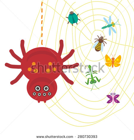 Cartoon Spider Stock Images, Royalty.