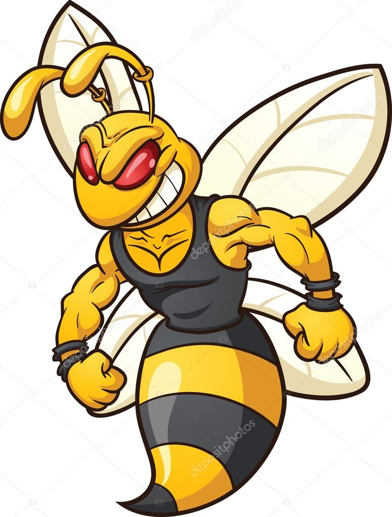 Wasp mascot — Stock Vector © memoangeles #26890299.