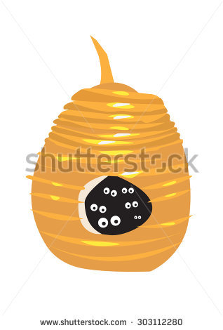 Wasp Nest Stock Photos, Royalty.