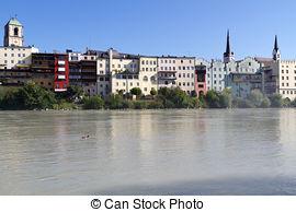 Stock Photos of Wasserburg am Inn, Bavaria, Germany.