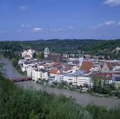 Stock Image of Germany, Bavaria, Upper Bavaria, Wasserburg am Inn.
