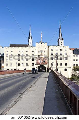 Stock Photo of Germany, Bavaria, Upper Bavaria, Wasserburg am Inn.