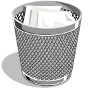 Waste Basket Icon, PNG ClipArt Image.