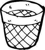 Waste Basket Clip Art.