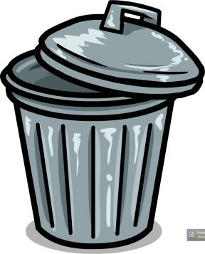 Garbage Can Clip Art Garbage Bin Cl, Trash Free Clipart.