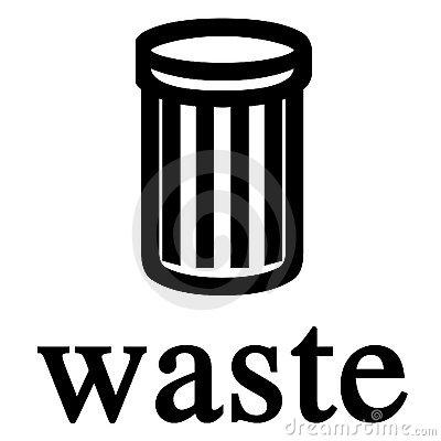 Waste Bin Sign Stock Photos.