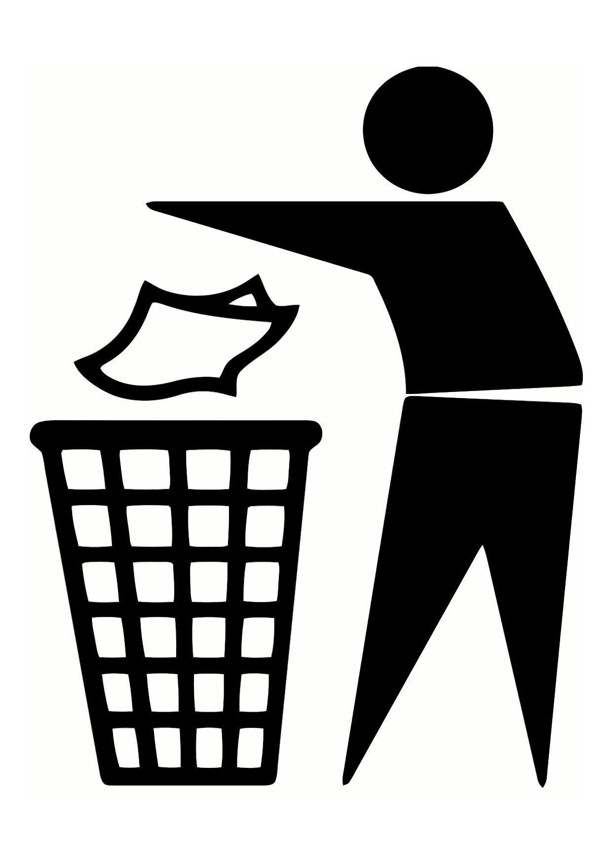 Waste bin clipart.