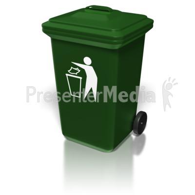 Plastic Trash Bin.