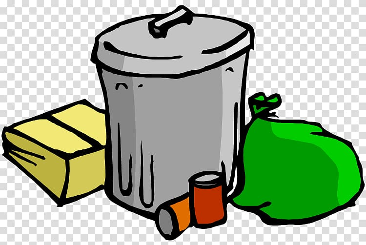Gray garbage can digital illustration, Rubbish Bins & Waste.