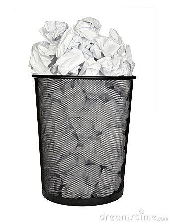 Wastepaper Basket Clipart.