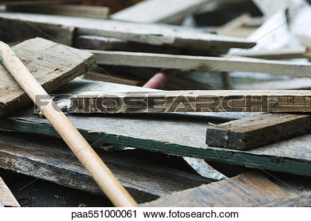 """Stock Photography of """"Pile of waste wood, planks"""" paa551000061."""