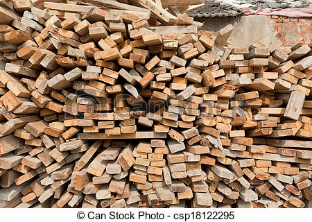 Stock Photographs of Waste wood pile csp18122295.