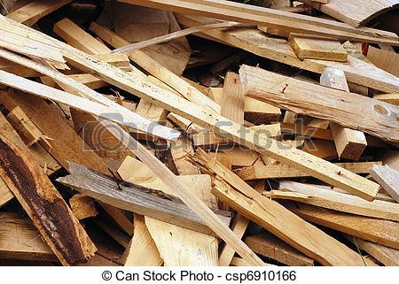 Stock Image of wood waste.