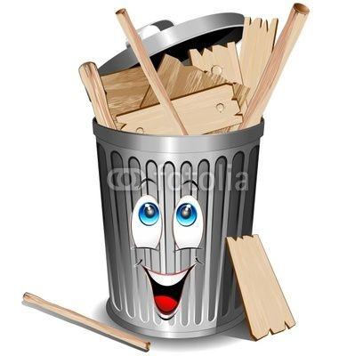 Cartoon #Wood #Recycle #Bin.