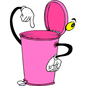 Images of cartoon wastebasket clipart.