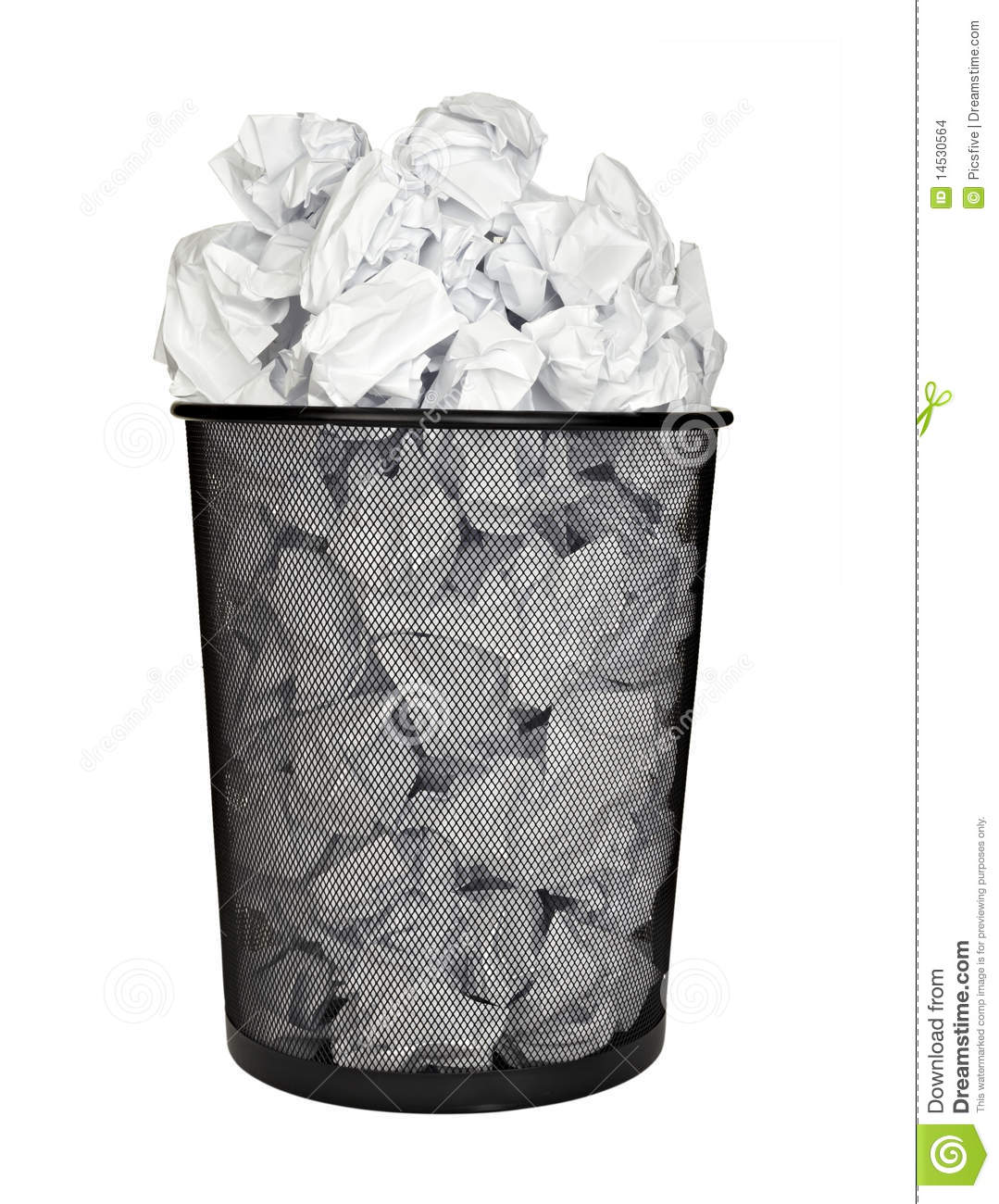 Paper Ball Waste Paper Bin Office Business Stock Images.