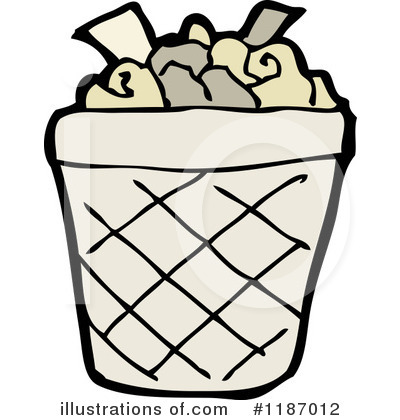 Clipart images of a waste paper basket.