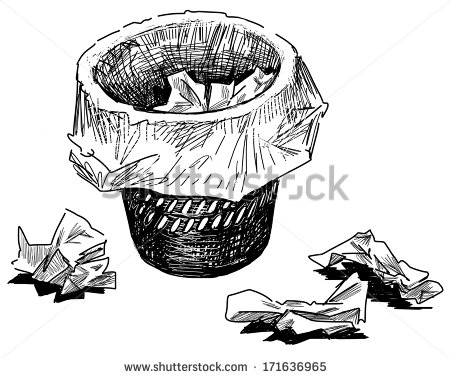 Recycle Trash Pile Of Paper Clipart.
