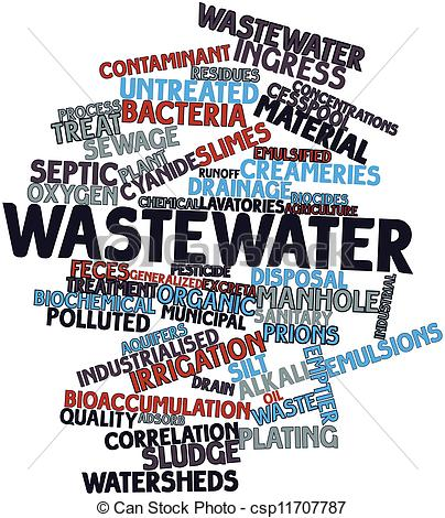 Wastewater treatment clipart.