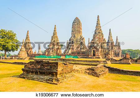 Picture of Wat Chai Watthanaram temple in ayutthaya Thailand.