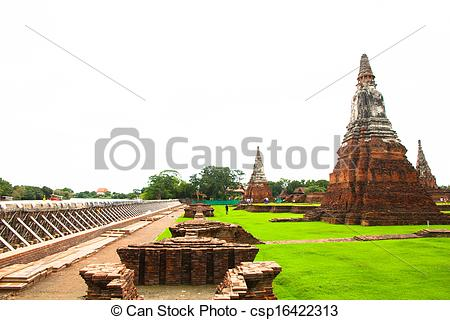 Stock Photography of Barrier for prevent flood at Wat.