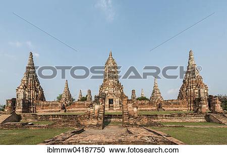 Stock Photography of Buddhist temple, Wat Chaiwatthanaram.