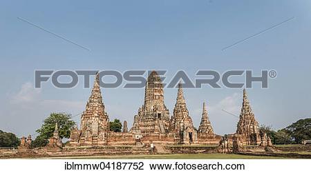 Stock Photo of Buddhist temple, Wat Chaiwatthanaram, Ayutthaya.