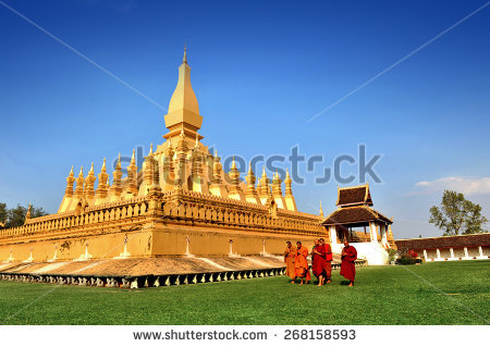 Pha That Luang Stock Images, Royalty.