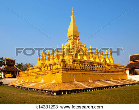Stock Photo of Pagada in Pha That Luang temple k14331293.