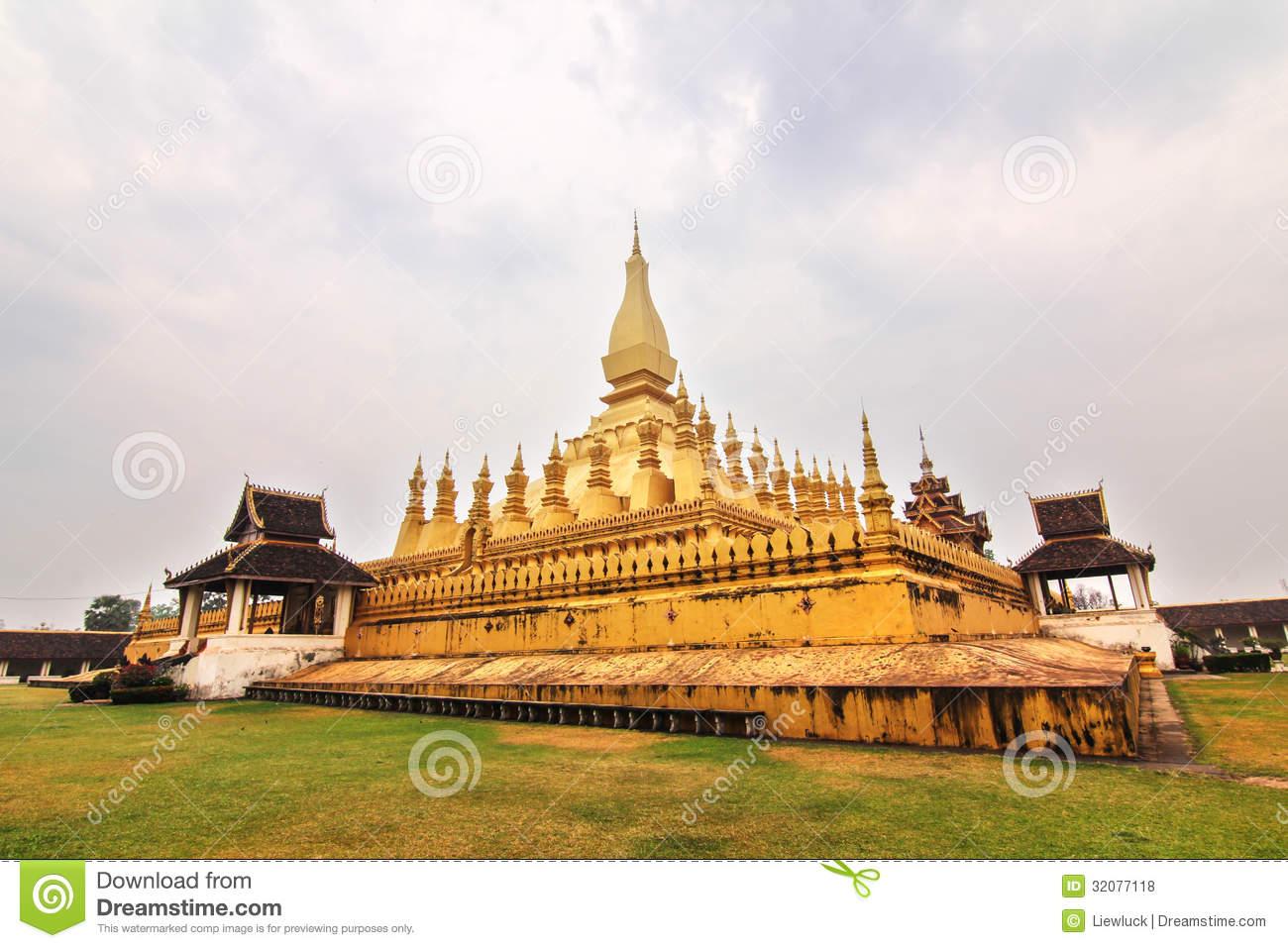 Wat Phra That Luang Royalty Free Stock Photos.