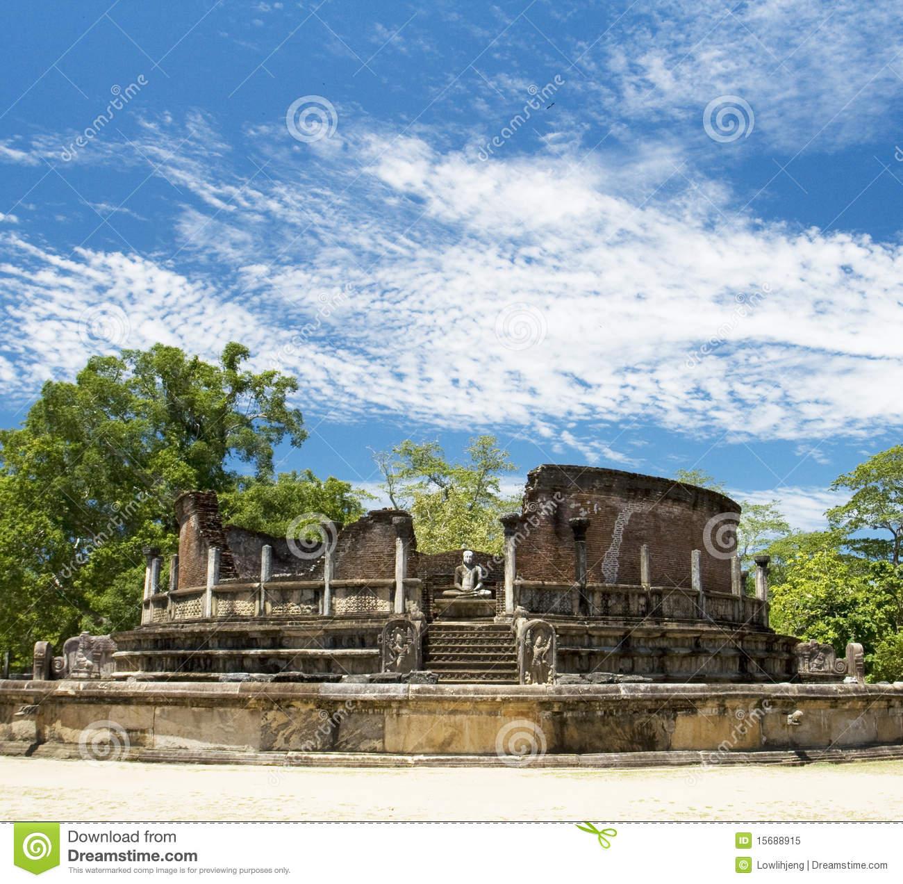 Polonnaruwa Vatadage, Sri Lanka Royalty Free Stock Photo.