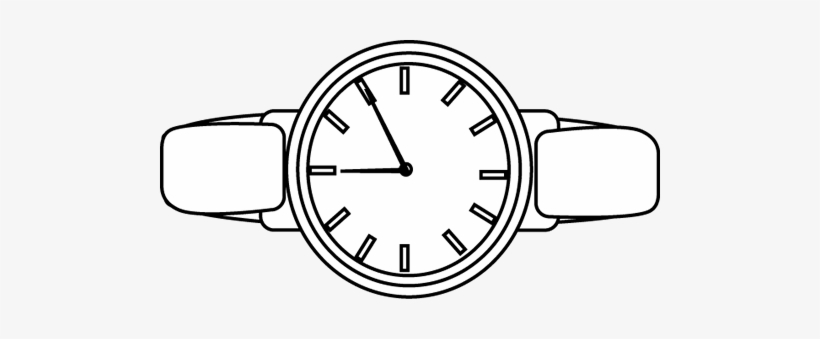 Black And White Watch Clip Art.