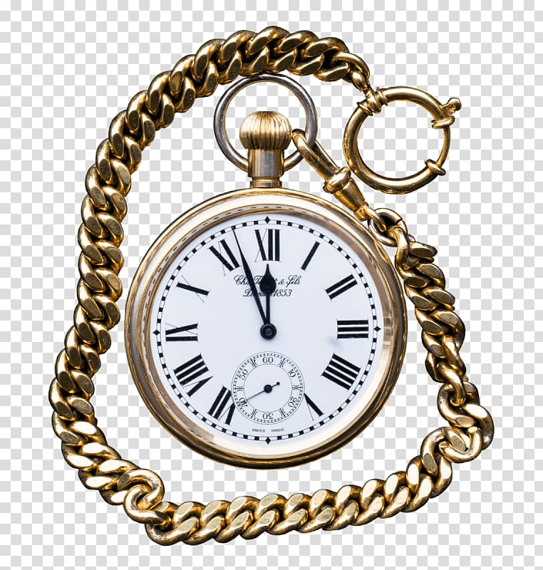 Clock Pocket watch Chain Travels Through Time in Italy.